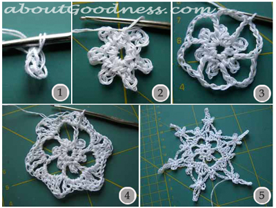How To Make 3d Crochet Snowflake Ornament Diy Tutorial