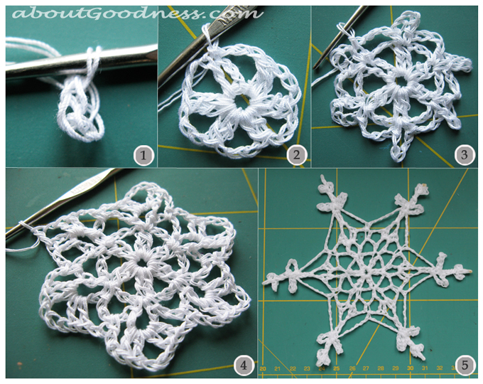 Diy Tutorial For Crochet Snowflake Pattern Aboutgoodness