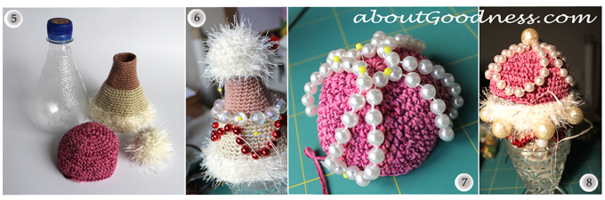 Beaded boho ornaments DIY tutorial
