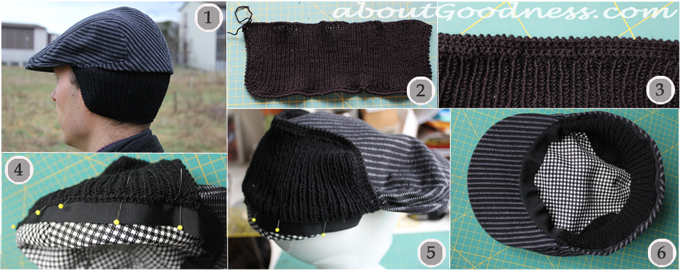 Flat Cap Gatsby Hat Earflap making tutorial