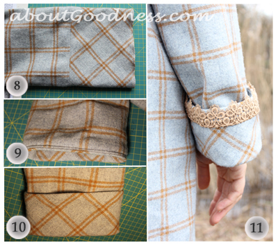 Sew coat turn-up sleeves DIY tutorial