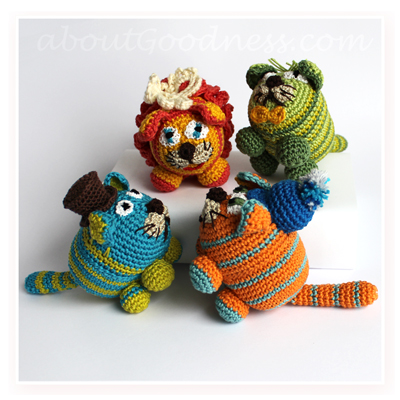 Amigurumi crochet cats tutorial free pattern