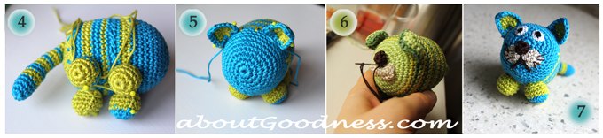 Crochet toys detail diy