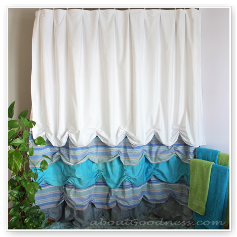 shower curtain diy tutorial