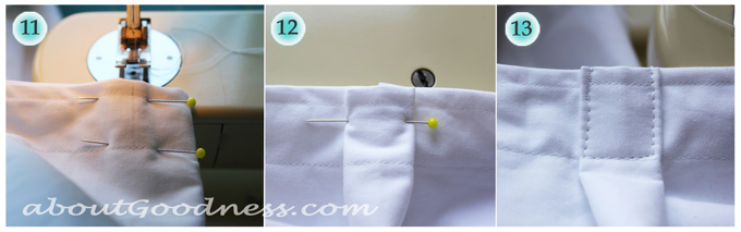 Shower curtain tutorial diy 4
