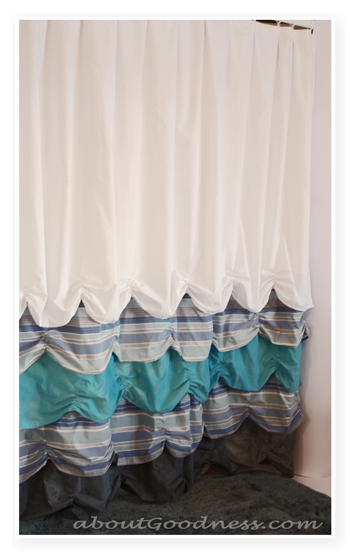 shower curtain tutorial diy